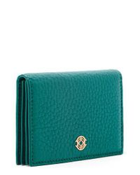 Dagne Dover - Gray Accordion Leather Card Case - Lyst