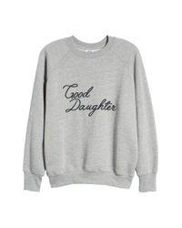 GOOD AMERICAN - Gray Sweatshirt - Lyst