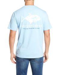 Vineyard Vines   Blue Painted Permit Graphic Pocket T-shirt for Men   Lyst