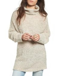 Free People - Blue 'she's All That' Knit Turtleneck Sweater - Lyst