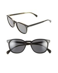 Oliver Peoples - Black 'finley' 51mm Polarized Sunglasses - Lyst
