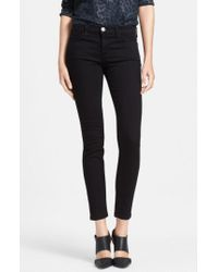Current/Elliott - Black 'the Stiletto' Skinny Jeans - Lyst