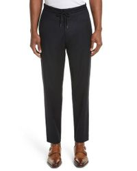 Paul Smith | Blue Drawstring Trousers | Lyst