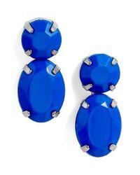 Adia Kibur - Blue Super Bright Stone Earrings - Lyst
