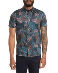 Ted Baker - Blue Tyger Modern Slim Fit Sport Shirt for Men - Lyst