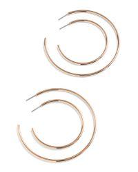 J.Crew - Metallic 4-piece Hoop Earring Set - Lyst