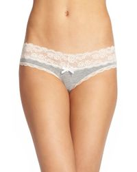 Honeydew Intimates | Gray Lace Trim Low Rise Thong | Lyst