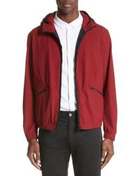 Emporio Armani - Red Water Repellent Jacket for Men - Lyst