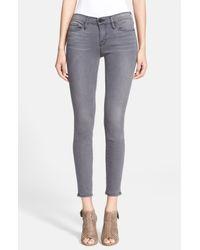FRAME - Gray 'le Skinny' Sateen Skinny Jeans - Lyst