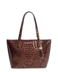 Brahmin - Brown 'medium Asher' Leather Tote - Lyst