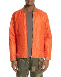 Ovadia And Sons - Orange Yardon Reversible Quilted Jacket for Men - Lyst