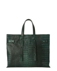 Orciani | Green Petra Croc-embossed Calfskin Leather Tote | Lyst