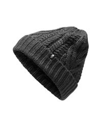 The North Face - Black Minna Cable Knit Beanie - Lyst