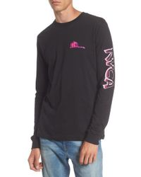 RVCA | Black Hot Rod Graphic T-shirt | Lyst