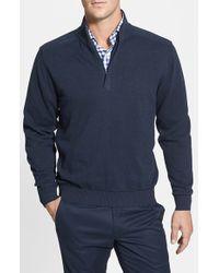 Cutter & Buck | Blue 'broadview' Half Zip Sweater for Men | Lyst