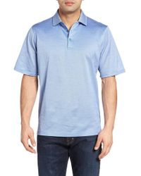 Bugatchi - Blue Mercerized Cotton Polo for Men - Lyst
