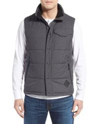 The North Face - Gray 'patrick's Point' Quilted Vest for Men - Lyst