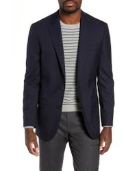 J.Crew - Black Ludlow Trim Fit Solid Wool Blazer for Men - Lyst