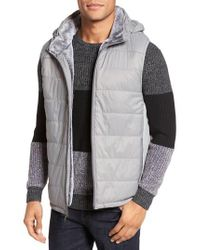 Vince Camuto - Metallic Hooded Vest for Men - Lyst