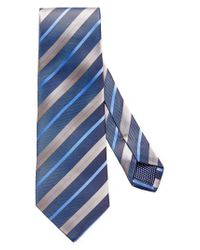 Eton of Sweden - Blue Stripe Silk Tie for Men - Lyst