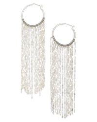Serefina - Metallic Waterfall Hoop Earrings - Lyst