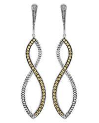 Lagos   Metallic Infinity Twist Drop Earrings   Lyst