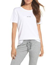 BRUNETTE the Label - White Hey Babe Tee - Lyst