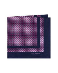 Ted Baker - Pink Micro Dot Silk Pocket Square for Men - Lyst