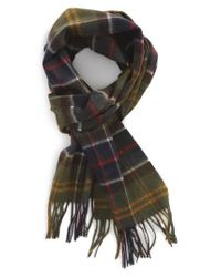 Barbour - Green Merino Wool & Cashmere Scarf for Men - Lyst