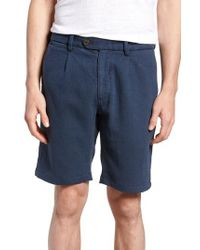 NIFTY GENIUS - Blue Thomas Regular Fit Pleated Shorts for Men - Lyst