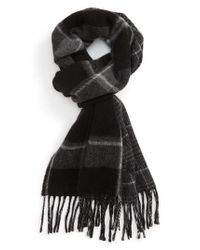 Polo Ralph Lauren - Black Wool Blend Scarf for Men - Lyst