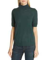 Eileen Fisher - Black Merino Wool Mock Neck Sweater - Lyst