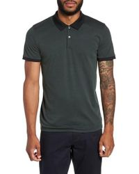 Theory | Red Current Tipped Pique Polo for Men | Lyst