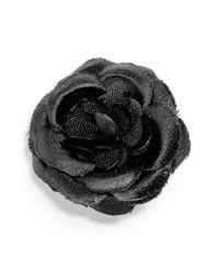 Hook + Albert - Black Small Lapel Flower - Lyst