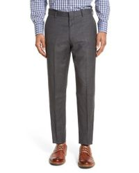 J.Crew - Blue J.crew Ludlow Flat Front Solid Wool Trousers for Men - Lyst