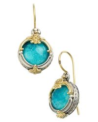 Konstantino - Blue 'iliada' Doublet Drop Earrings - Lyst