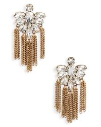 Cara - Metallic Fringe Earrings - Lyst