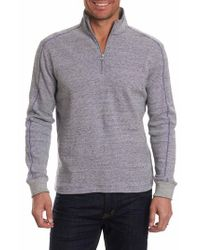 Robert Graham - Gray Easy Rider Quarter Zip Pullover for Men - Lyst
