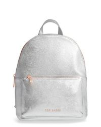 Ted Baker - Pearen Leather Backpack - Metallic - Lyst
