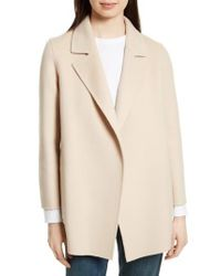 Theory - Natural Clairene New Divide Wool & Cashmere Open Front Topper - Lyst