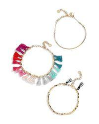 BaubleBar - Blue Dionne 3-pack Bracelets - Lyst