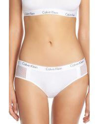 Calvin Klein - Blue 'one Micro' Hipster Bikini - Lyst