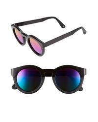 Sunday Somewhere | Black Soelae 46mm Rainbow Round Sunglasses | Lyst