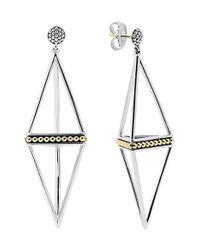 Lagos   Metallic 'ksl' Pyramid Drop Earrings   Lyst