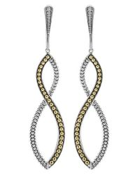 Lagos | Metallic Infinity Twist Drop Earrings | Lyst