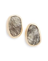 Melissa Joy Manning - Gray Semiprecious Stone Earrings - Lyst