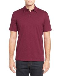 John W. Nordstrom - Red Mercerized Pima Cotton Polo for Men - Lyst