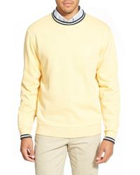 Cutter & Buck | Yellow 'heritage Crew' Pullover Sweatshirt for Men | Lyst