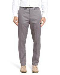 John W. Nordstrom | Gray John W. Nordstrom Non-iron Smartcare(tm) Flat Front Stretch Cotton Pants for Men | Lyst