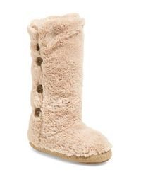 Bedroom Athletics | Natural Grace Faux-Fur Slipper Boots  | Lyst